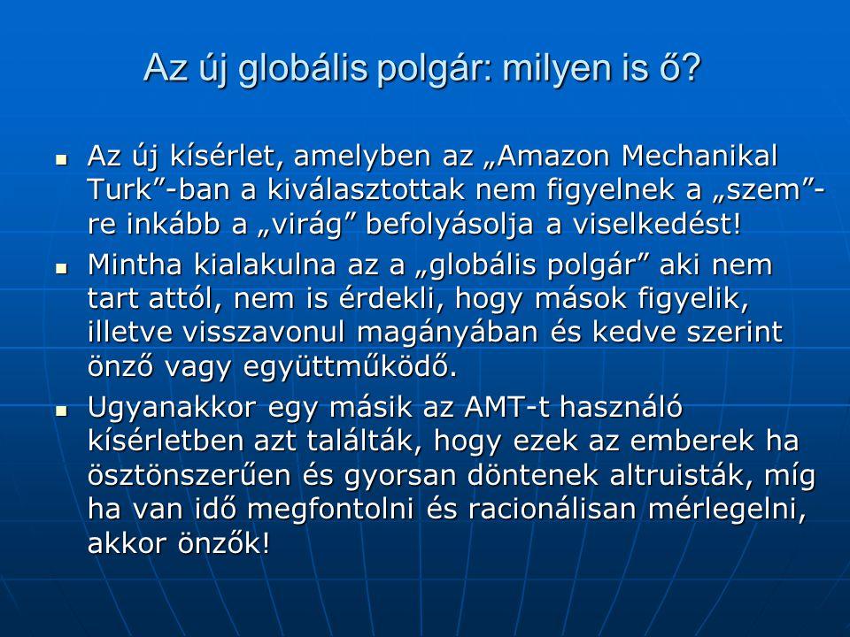 """Az új globális polgár: milyen is ő? Az új kísérlet, amelyben az """"Amazon Mechanikal Turk""""-ban a kiválasztottak nem figyelnek a """"szem""""- re inkább a """"vir"""