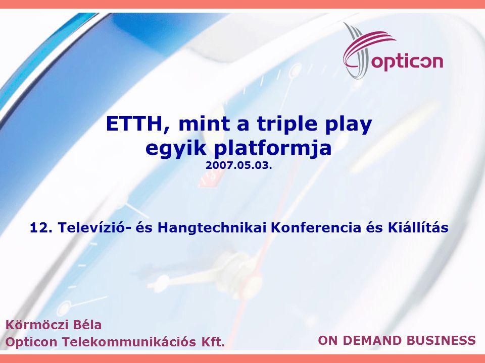 ETTH, mint a triple play egyik platformja 2007.05.03.