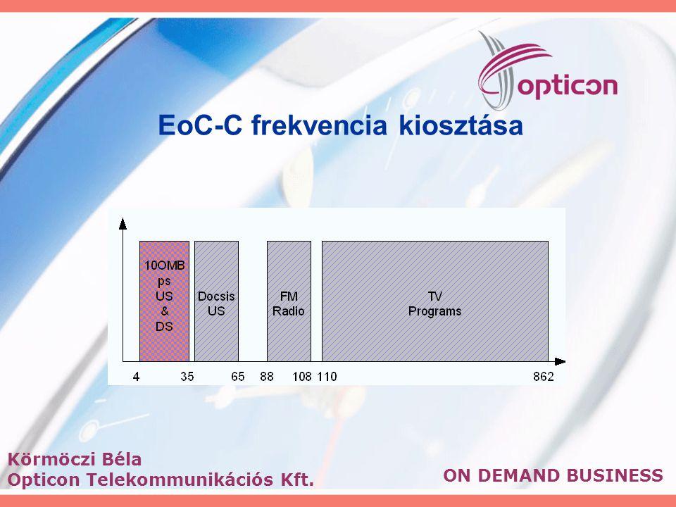 ON DEMAND BUSINESS Körmöczi Béla Opticon Telekommunikációs Kft. EoC-C frekvencia kiosztása