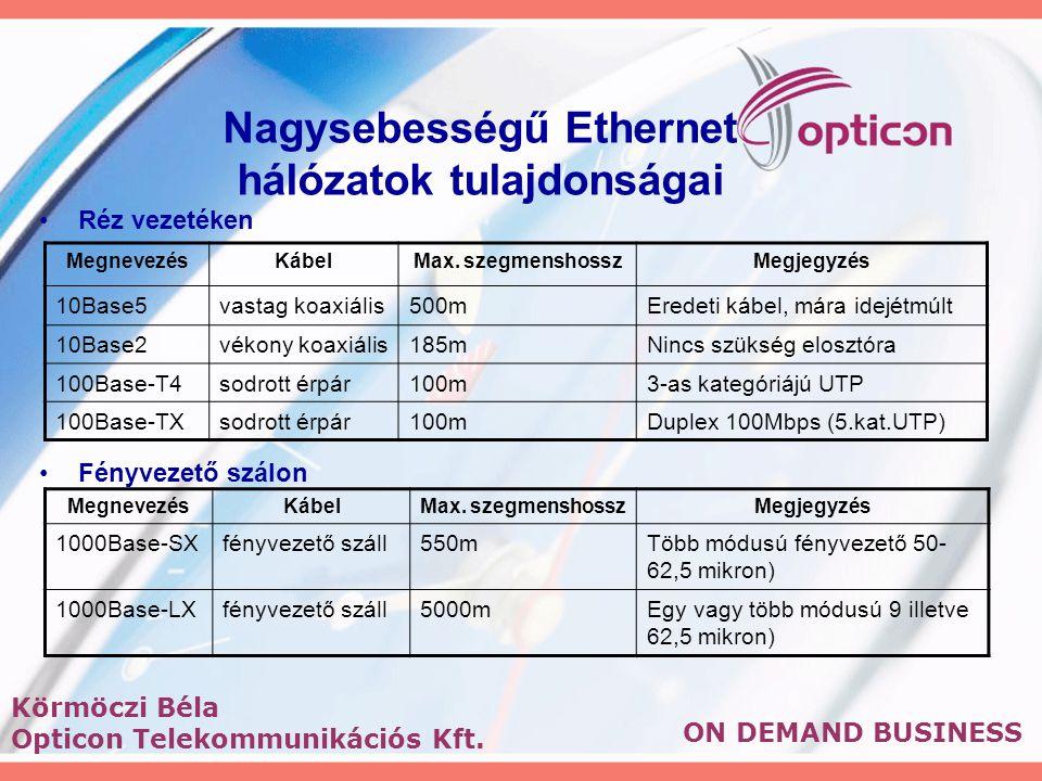 ON DEMAND BUSINESS Körmöczi Béla Opticon Telekommunikációs Kft.