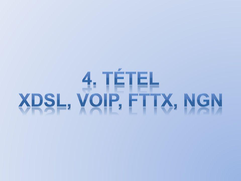 ADSL alkalmazása xDSL frekvenciaosztásos elven működik, azaz különböző frekvencián továbbítja az előfizető és a szolgáltató felé haladó adatokat