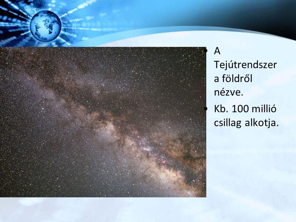 A Tejútrendszer a földről nézve. Kb. 100 millió csillag alkotja.