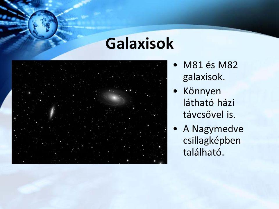 Galaxisok M81 és M82 galaxisok. Könnyen látható házi távcsővel is. A Nagymedve csillagképben található.
