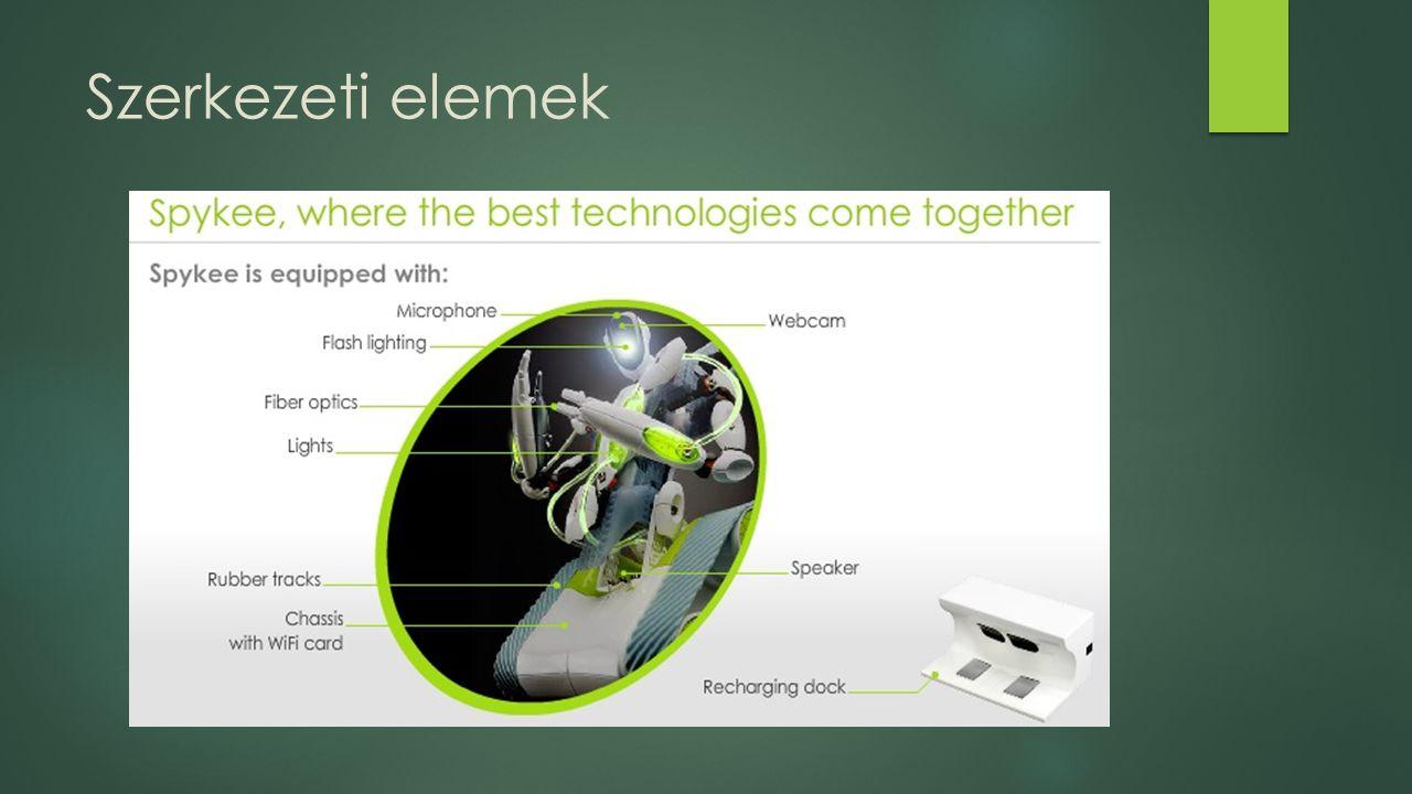 Egyéb tulajdonságok  A szükséges szoftver nyílt forráskódú bárki továbbfejlesztheti  Integráltság: A mechatronika eszköz telekommunikációs funkciói jóval fejlettebb szintet képviselnek, mint a robottechnika felszereltsége  Pl.: Robotkar, lépcsőn közlekedés  Számítógépre telepíthető felhasználóbarát vezérlő interfésszel rendelkezik: https://www.youtube.com/watch?v=NflnNr2- TZo