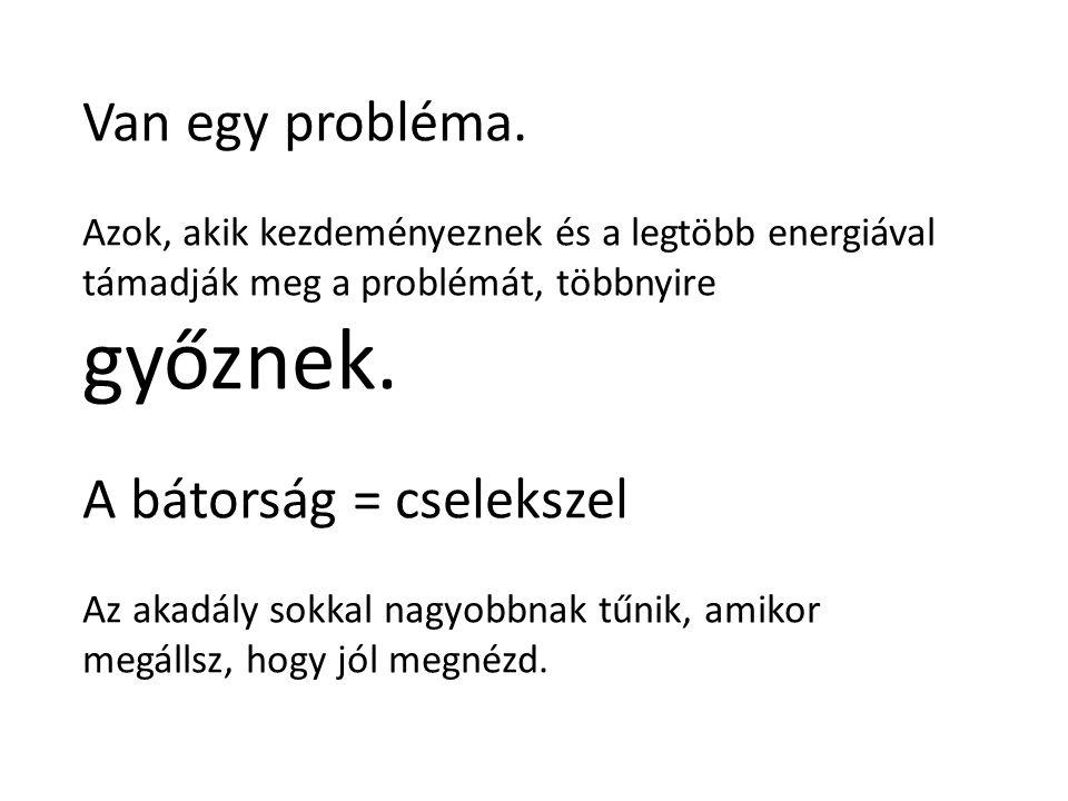 Van egy probléma.