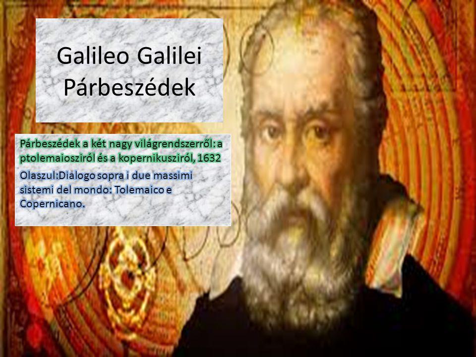Galileo Galilei Párbeszédek