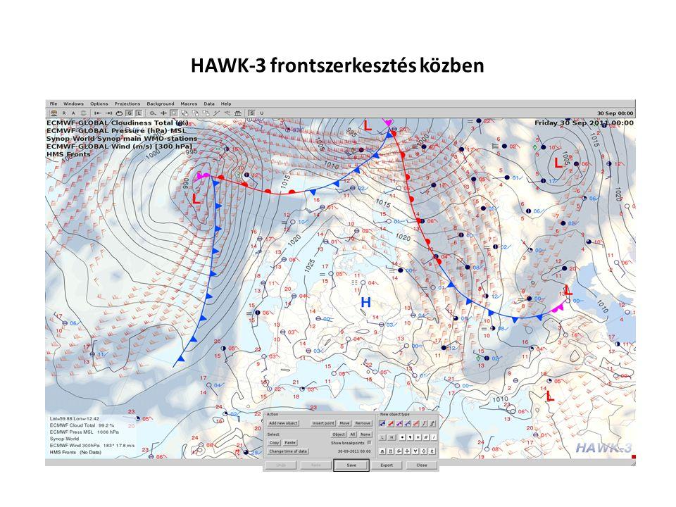 HAWK-3 frontszerkesztés közben