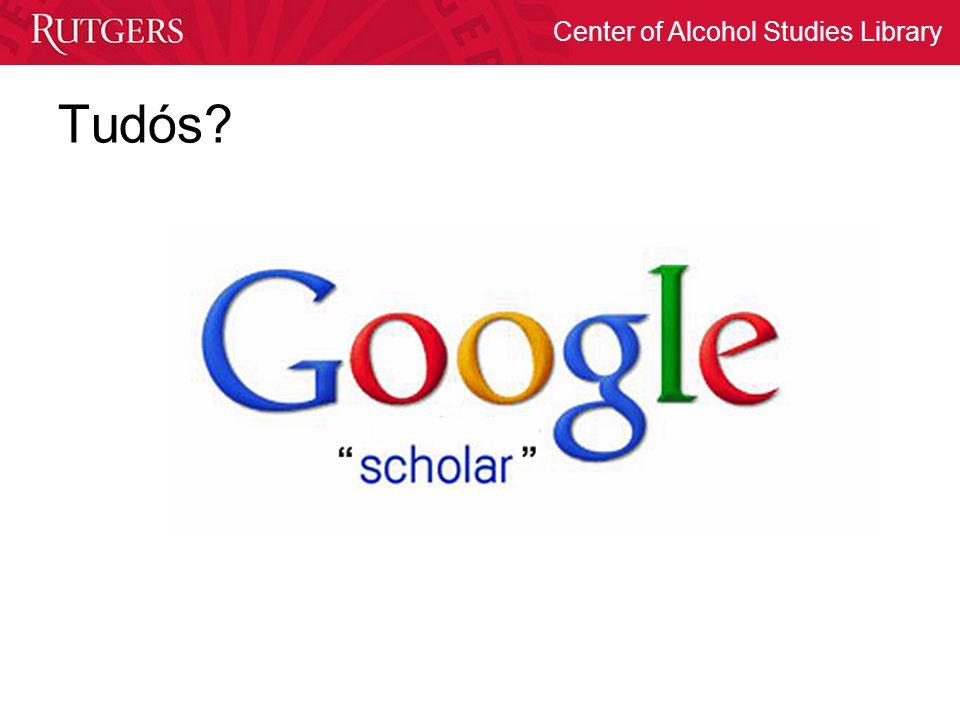 Center of Alcohol Studies Library Tudós?