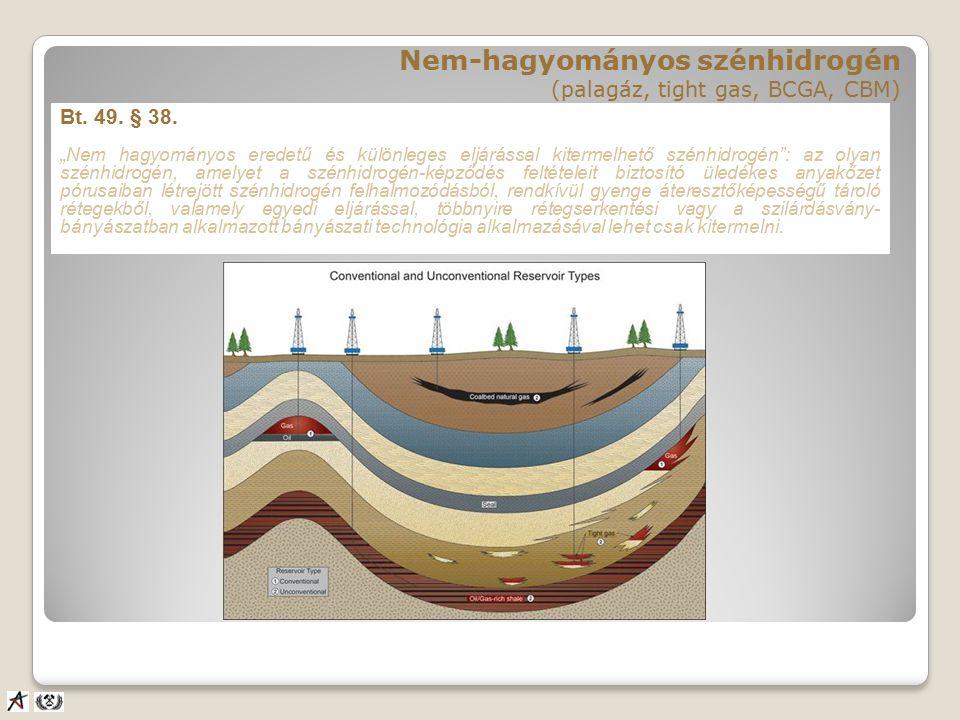 Hagyományos vs. nem-hagyományos szénhidrogén tárolók ●