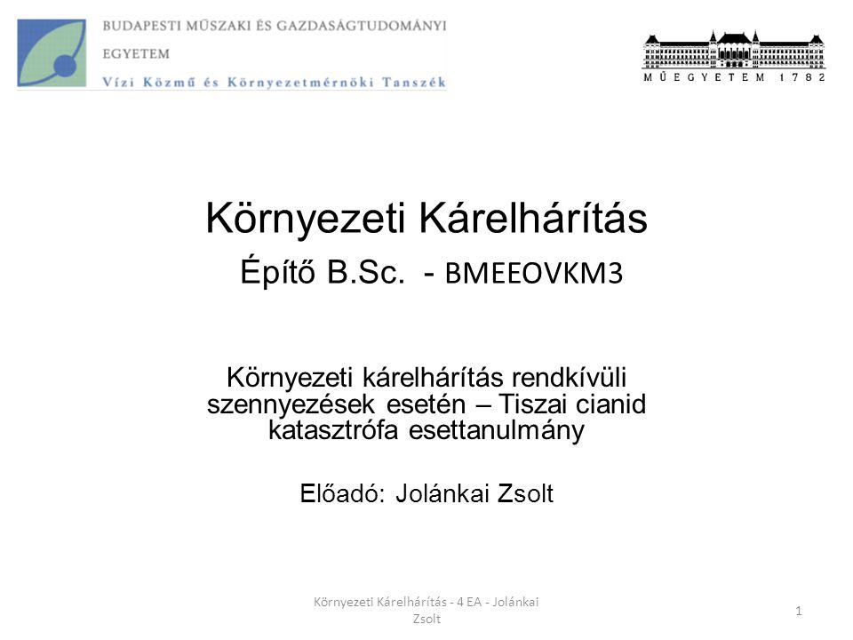 Környezeti Kárelhárítás - 4 EA - Jolánkai Zsolt 21