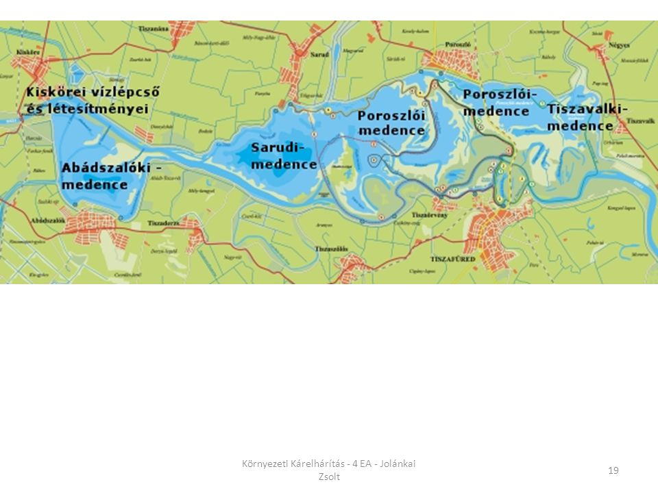 Kárelhárítási megoldások Kiskörei tározó A Tisza-tó és a Tisza illetve annak hullámtere szolgál tározásra A Kiskörei-tározó tulajdonképpen nem tekinth