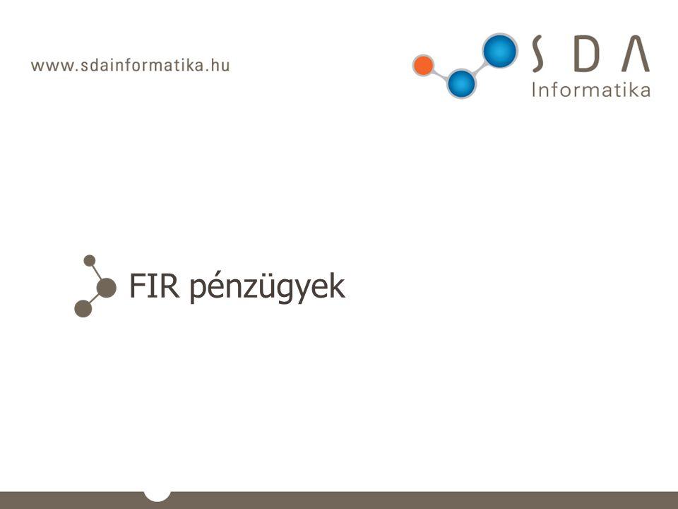 FIR pénzügyek
