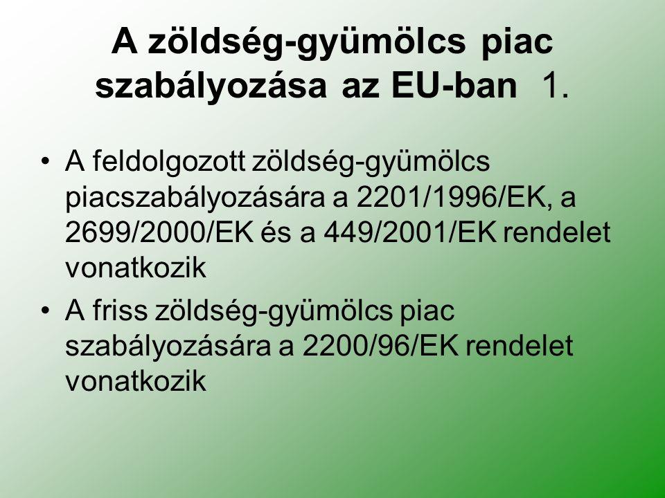 A zöldség-gyümölcs piac szabályozása az EU-ban 1.