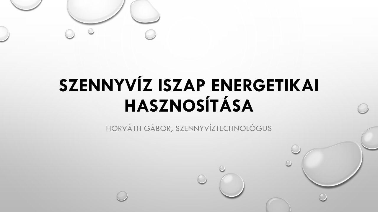 SZENNYVÍZ ISZAP ENERGETIKAI HASZNOSÍTÁSA HORVÁTH GÁBOR, SZENNYVÍZTECHNOLÓGUS