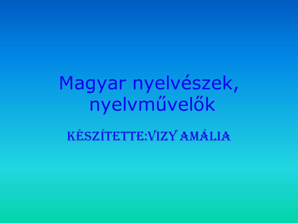 Magyar nyelvészek, nyelvművelők Készítette:Vizy Amália