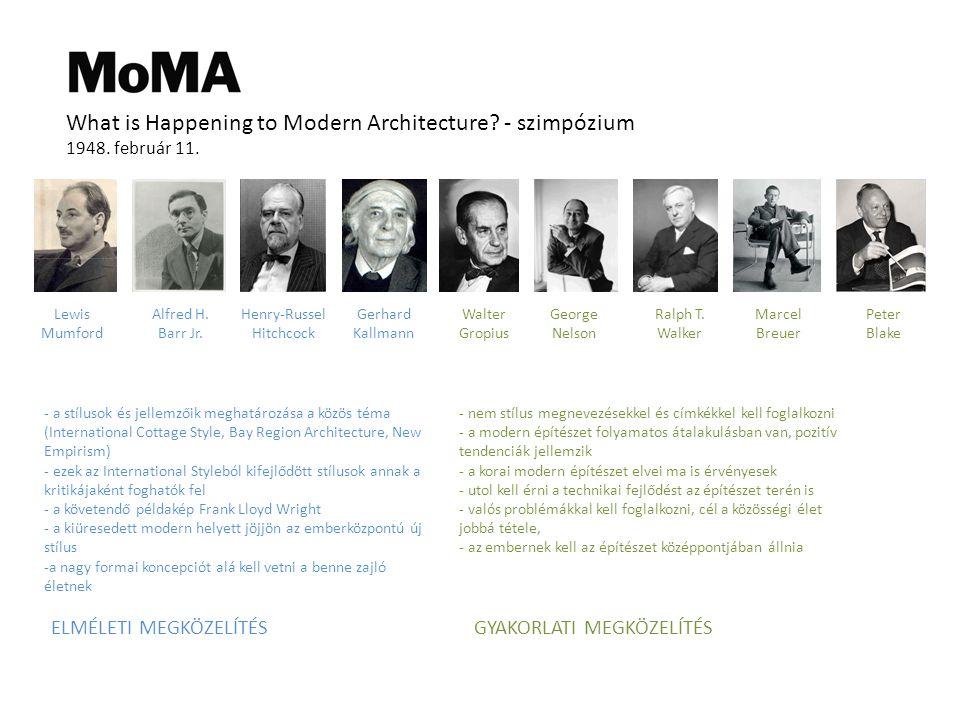 What is Happening to Modern Architecture.- szimpózium 1948.