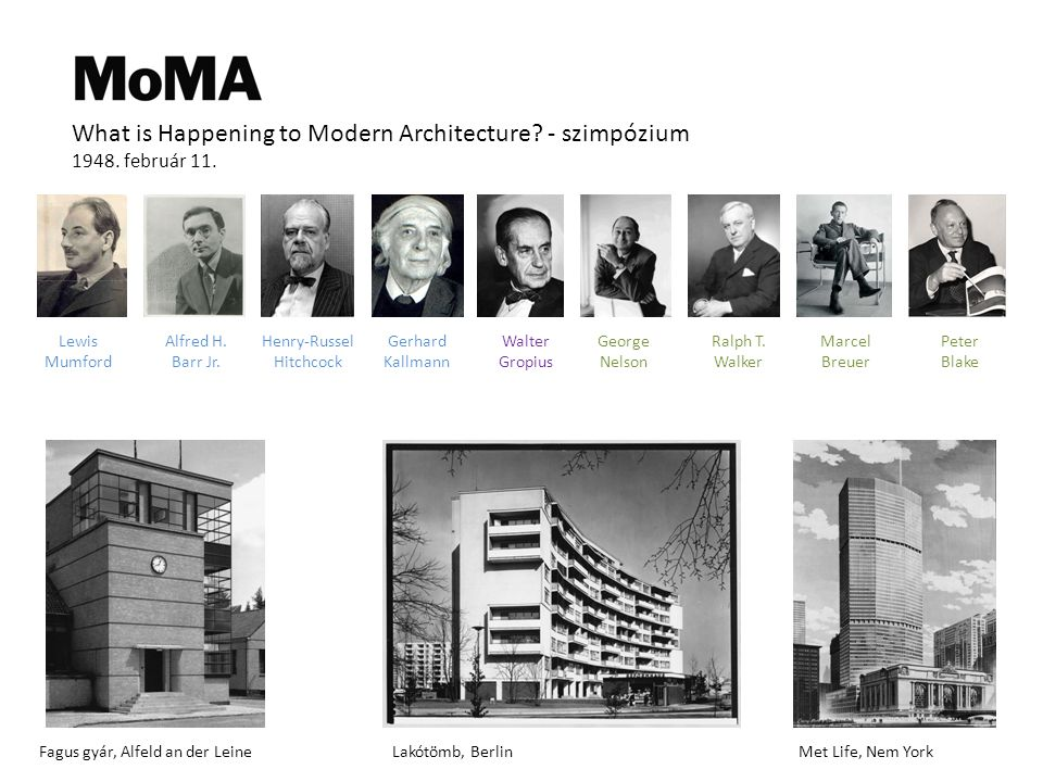 What is Happening to Modern Architecture.- szimpózium 1948.
