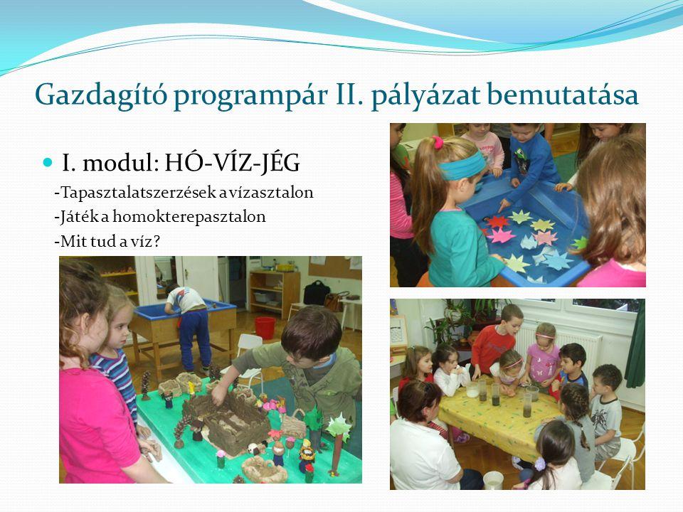 Gazdagító programpár II. pályázat bemutatása I.