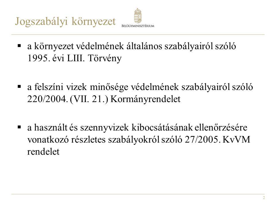 2  a környezet védelmének általános szabályairól szóló 1995.