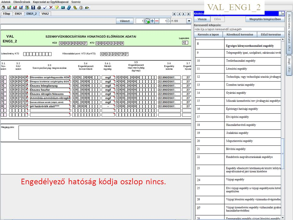 8 VAL_VHA2 -1.oldal változatlan -2. oldalon: nincs 1.3 Szennyvíz bev.
