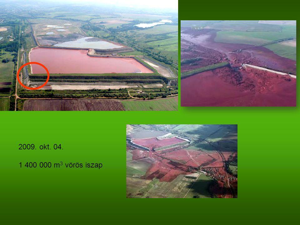 2009. okt. 04. 1 400 000 m 3 vörös iszap
