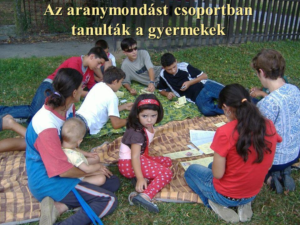 Az aranymondást csoportban tanulták a gyermekek