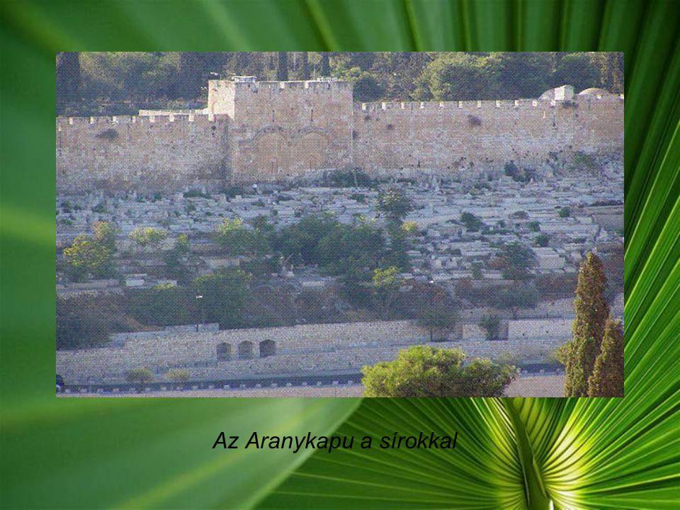 Kilátás az Olajfák hegyéről A hegyoldalán lévő temetőben millió dollárokért foglalnak sírhelyet a tehetős zsidók, és muszlimok. Mindenesetre, nem árt