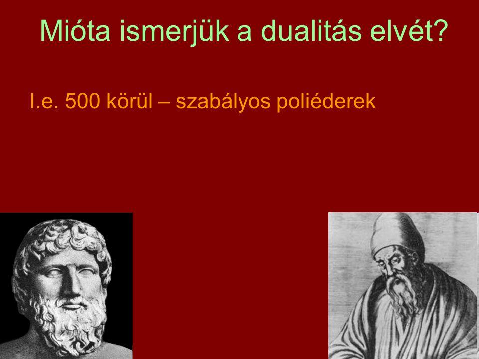 I.e. 500 körül – szabályos poliéderek