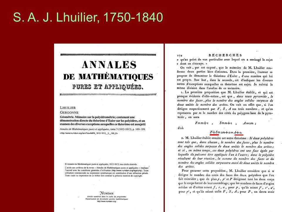 S. A. J. Lhuilier, 1750-1840