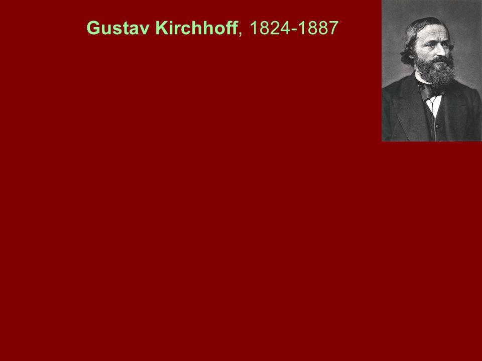 Gustav Kirchhoff, 1824-1887
