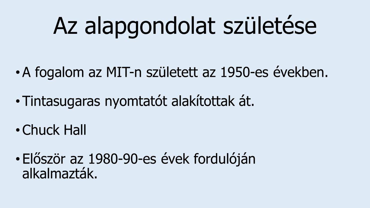 Az alapgondolat születése A fogalom az MIT-n született az 1950-es években.