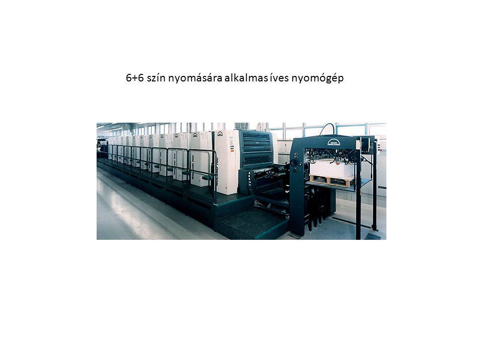 6+6 szín nyomására alkalmas íves nyomógép
