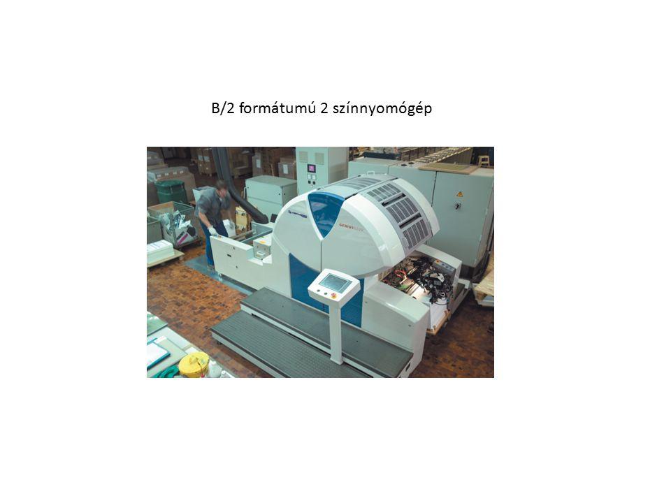 B/2 formátumú 2 színnyomógép