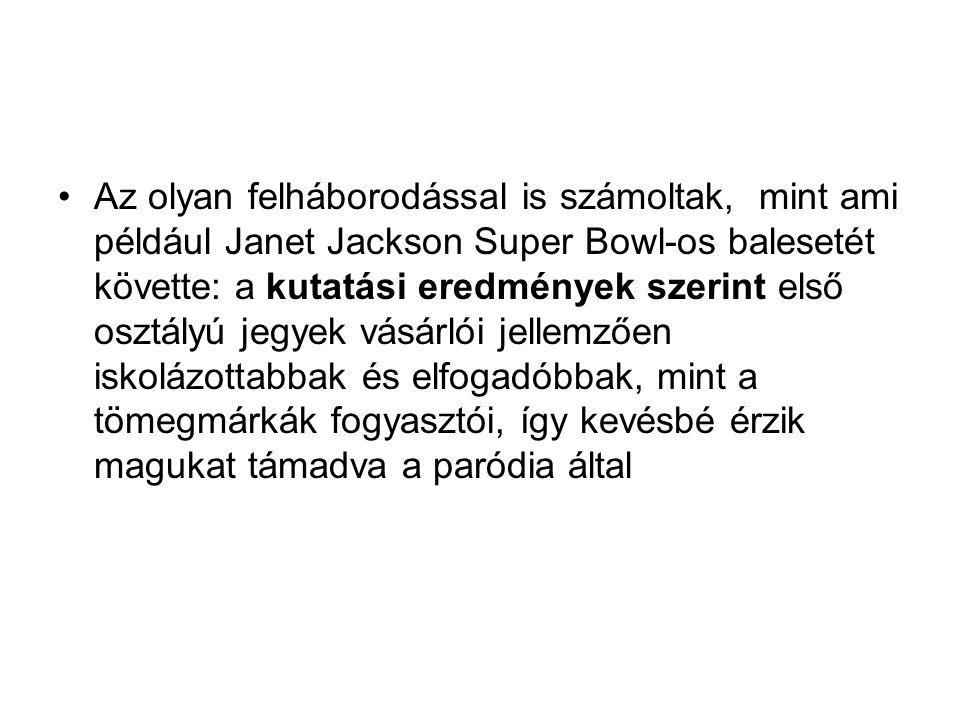 Az olyan felháborodással is számoltak, mint ami például Janet Jackson Super Bowl-os balesetét követte: a kutatási eredmények szerint első osztályú jeg