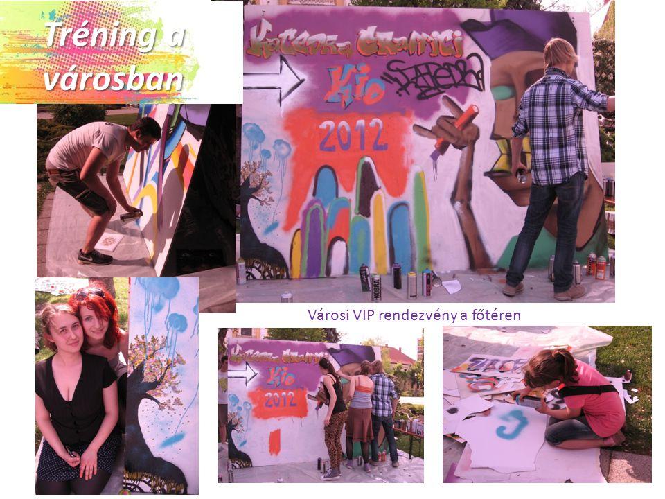 Városi VIP rendezvény a főtéren Tréning a városban