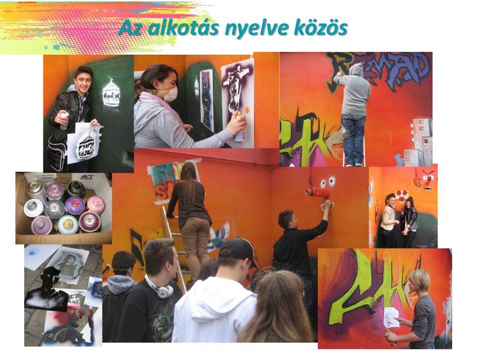 A program témája, és legfőbb céljai A program témája, és legfőbb céljai Graffiti Graffiti - a szubkultúra feltérképezése - a kreativitás előremozdítása - a kortárs művészet megismerése - a vizuális környezeti nevelés támogatása -kulturális együttműködések kiépítése - a nyelvtanulás, a nyelvi sokszínűség támogatása - az európai oktatási rendszerek tanulmányozása - a képzési rendszerek közötti együttműködés - az SNI tanulók bevonása az LLP programba