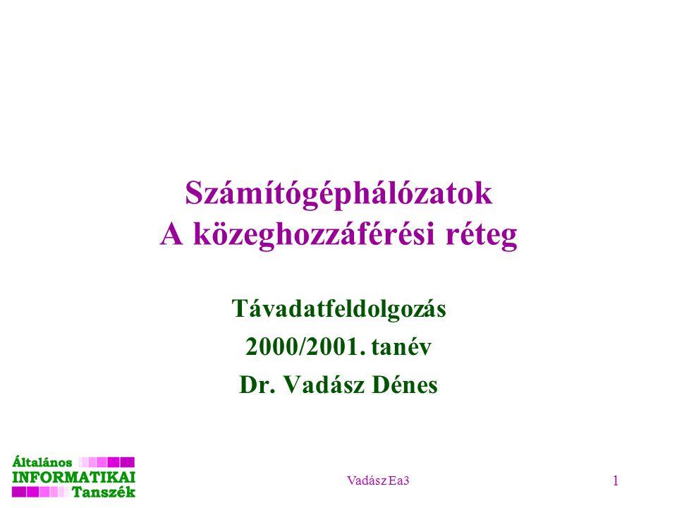 Vadász Ea3 1 Távadatfeldolgozás 2000/2001. tanév Dr.