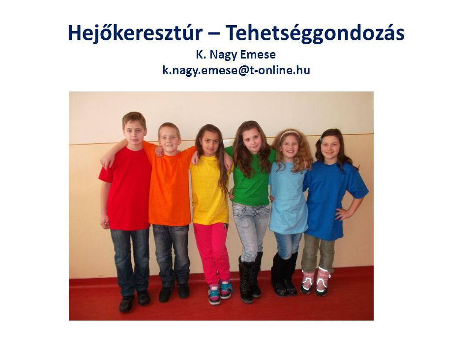 Hejőkeresztúr – Tehetséggondozás K. Nagy Emese k.nagy.emese@t-online.hu