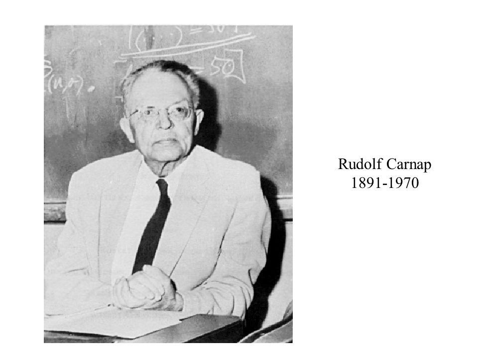 Rudolf Carnap 1891-1970