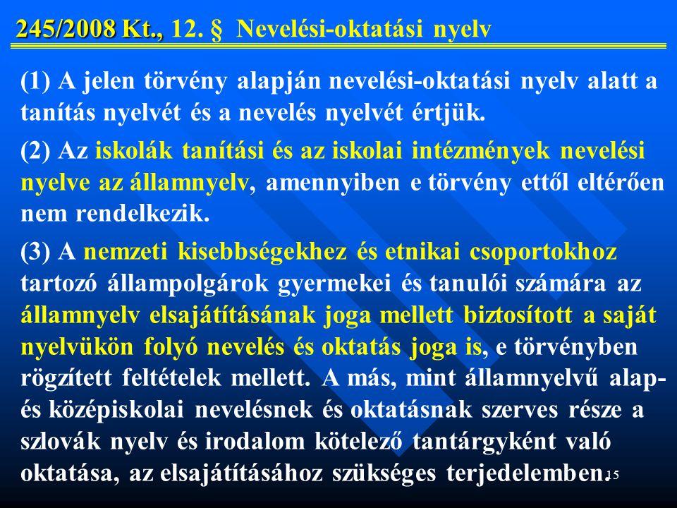 15 245/2008 Kt., 245/2008 Kt., 12.
