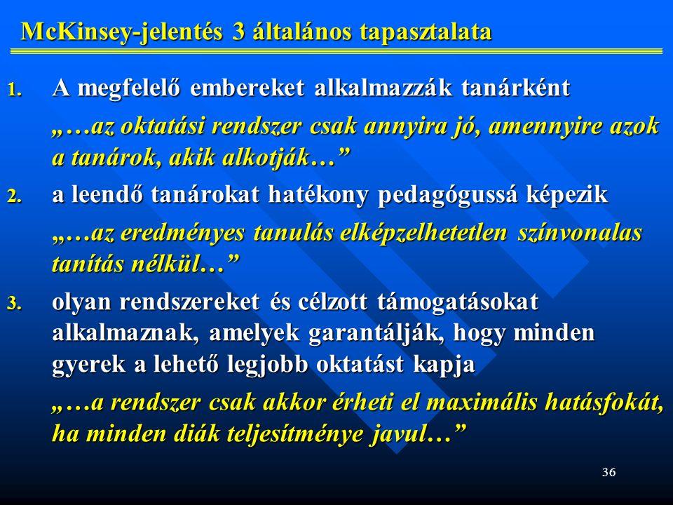 36 McKinsey-jelentés 3 általános tapasztalata 1.