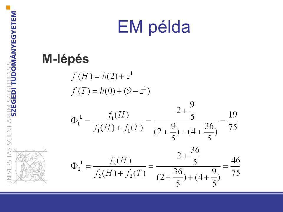 EM példa M-lépés