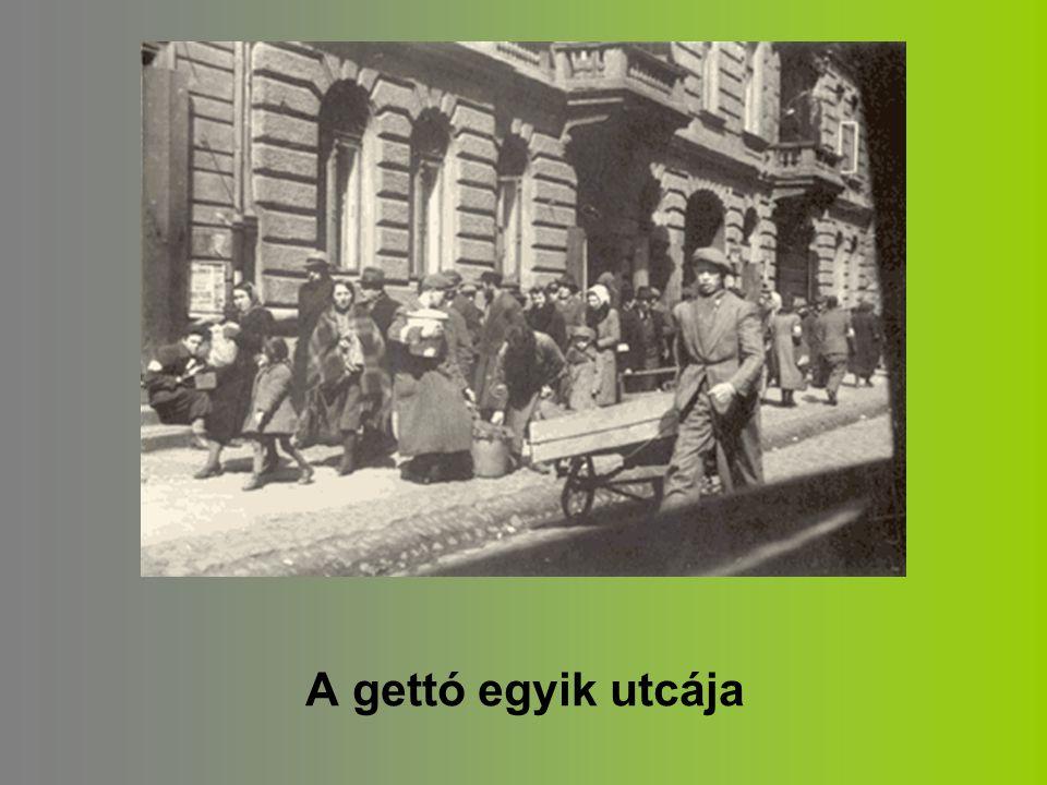 A gettó egyik utcája