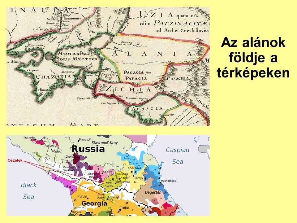 Az alánok földje a térképeken