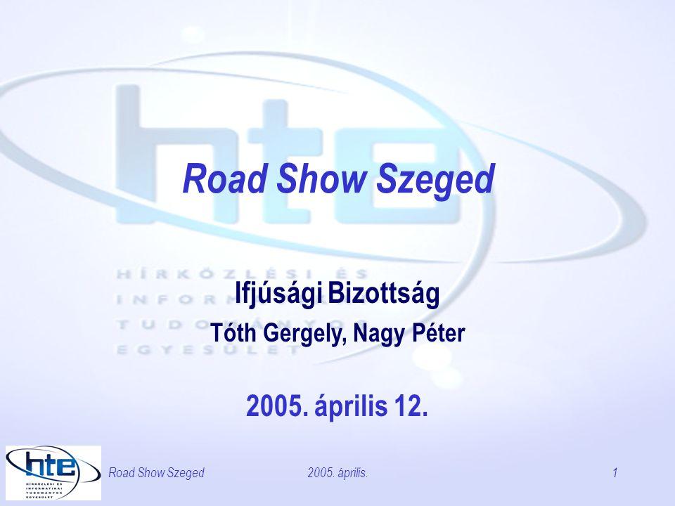 2005. április.Road Show Szeged1 Ifjúsági Bizottság Tóth Gergely, Nagy Péter 2005. április 12.