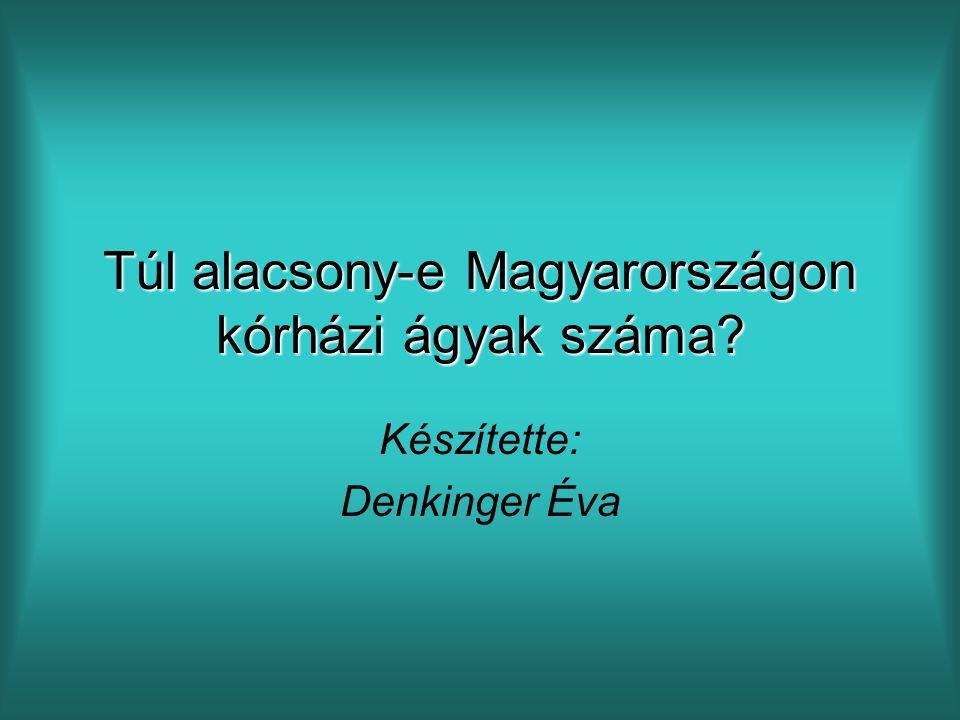 Túl alacsony-e Magyarországon kórházi ágyak száma? Készítette: Denkinger Éva