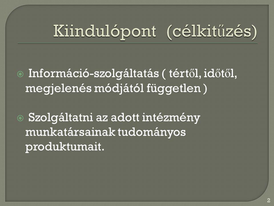  Saját kiadványok  Saját adatbázis /TEKA/ 3