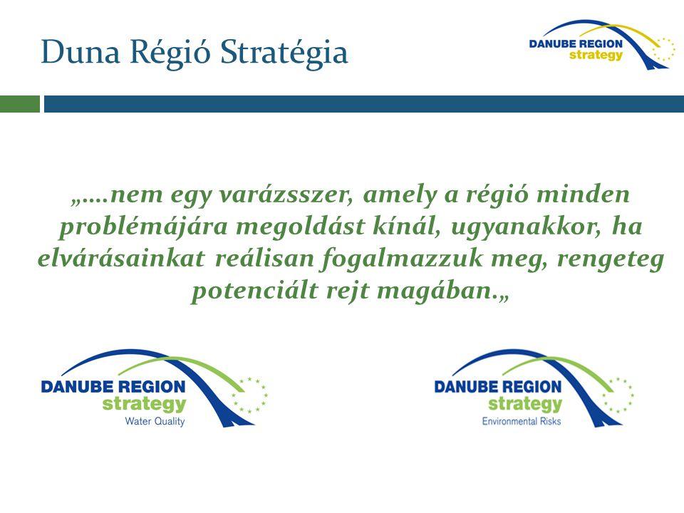 """Duna Régió Stratégia """"….nem egy varázsszer, amely a régió minden problémájára megoldást kínál, ugyanakkor, ha elvárásainkat reálisan fogalmazzuk meg,"""