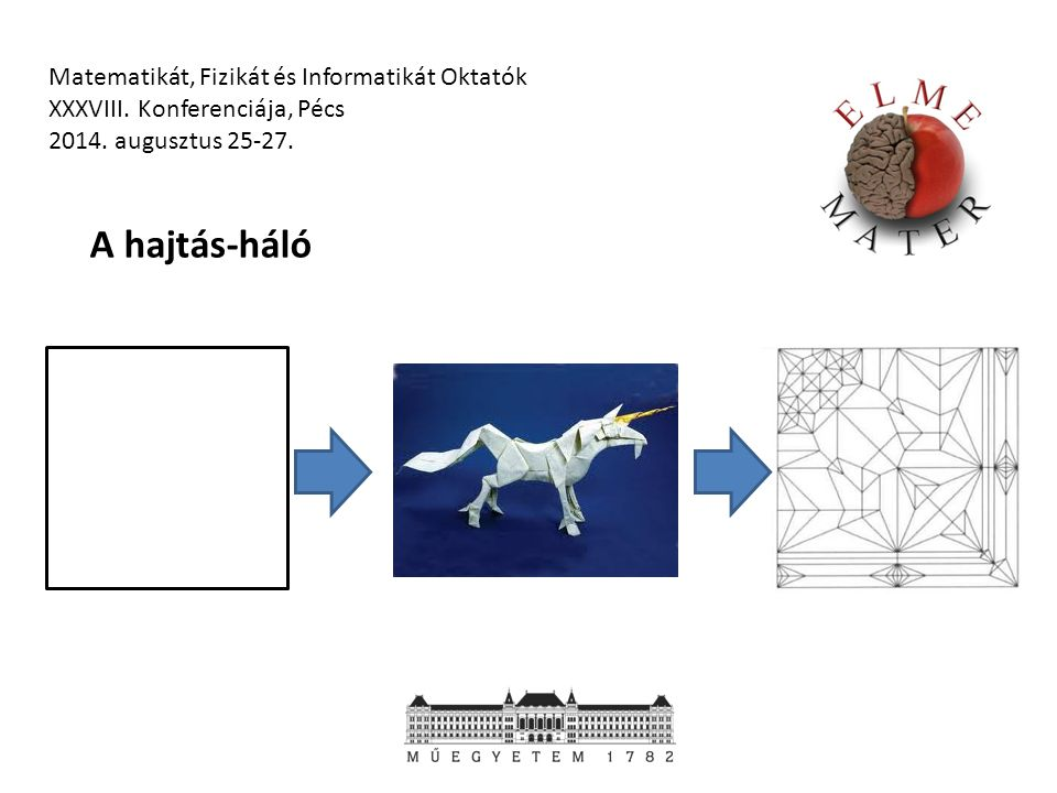 Matematikát, Fizikát és Informatikát Oktatók XXXVIII. Konferenciája, Pécs 2014. augusztus 25-27. A hajtás-háló
