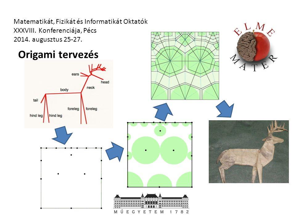 Matematikát, Fizikát és Informatikát Oktatók XXXVIII. Konferenciája, Pécs 2014. augusztus 25-27. Origami tervezés